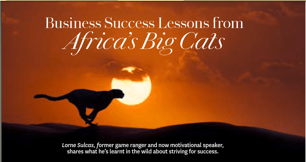 Oprah Magazine talks about Business Success Lessons from Africa's Big Cats